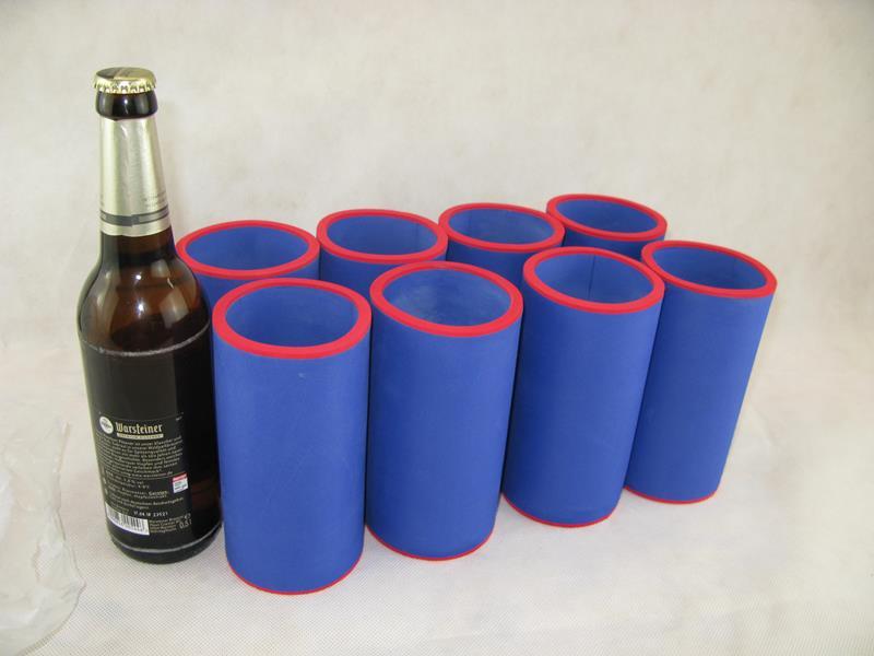 passgenau ~Flaschenk/ühler~ f/ür alle genormten 0,5l Bierflaschen aus hochwertigen 5-6mm starken Neopren Bierk/ühler Neoprenk/ühler asiahouse24 4er Set schwarz Getr/änkek/ühler 0,5l Flasche